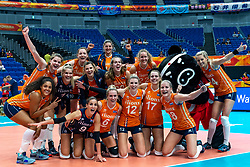 03-10-2018 JPN: World Championship Volleyball Women day 5, Yokohama<br /> Argentina - Netherlands 0-3 / Team NL after 3-0 win