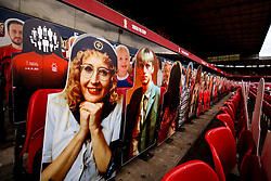 A general view of the City Ground, home to Nottingham Forest with cardboard cutouts of fans and random celebrities - Mandatory by-line: Robbie Stephenson/JMP - 01/07/2020 - FOOTBALL - The City Ground - Nottingham, England - Nottingham Forest v Bristol City - Sky Bet Championship