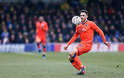 Lee Gregory of Millwall on the ball - Mandatory by-line: Arron Gent/JMP - 16/02/2019 - FOOTBALL - Cherry Red Records Stadium - Kingston upon Thames, England - AFC Wimbledon v Millwall - Emirates FA Cup fifth round proper