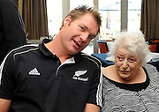Ali Williams during a visit to Jack Inglis Friendship Hospital during the All Blacks visit towns across New Zealand. Motueka, New Zealand, Friday 2 September 2011. Photo: Chris Symes/www.photosport.co.nz