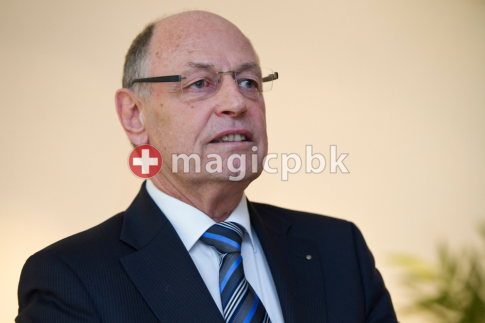 SCUW's president Philippe M. WALTER of Switzerland is pictured during the award ceremony for the Sportpreis 2011 der Stadt Uster held at the Villa am Aabach in Uster, Switzerland, Friday, Jan. 13, 2012. (Photo by Patrick B. Kraemer / MAGICPBK)