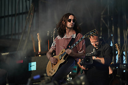 Josh Dewhurst of Blossoms performing live on the Main Stage at the 2017 Reading Festival. Photo date: Sunday, August 27, 2017. Photo credit should read: Richard Gray/EMPICS Entertainment