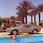 Studebaker Avanti promotional image taken in Palm Springs, California.