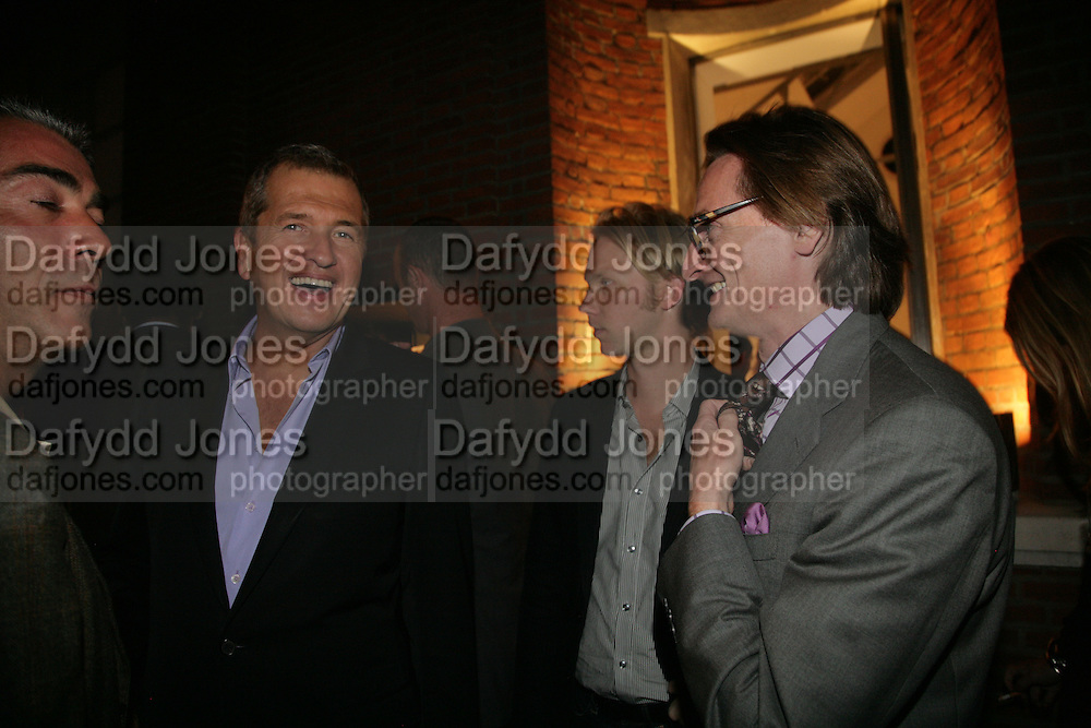 Mario Testino and Hamish Bowles, Michael Roberts - book launch party hosted by Vanity Fair to celebrate  publication, Shot In Sicily. Hamiltons Gallery, 13 Carlos Place, London,17 September 2007. -DO NOT ARCHIVE-© Copyright Photograph by Dafydd Jones. 248 Clapham Rd. London SW9 0PZ. Tel 0207 820 0771. www.dafjones.com.