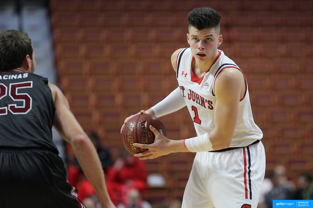 Amar Alibegovic, St. John's, in action during the St. John's vs South Carolina Men's College Basketball game in the Hall of Fame Shootout Tournament at Mohegan Sun Arena, Uncasville, Connecticut, USA. 22nd December 2015. Photo Tim Clayton