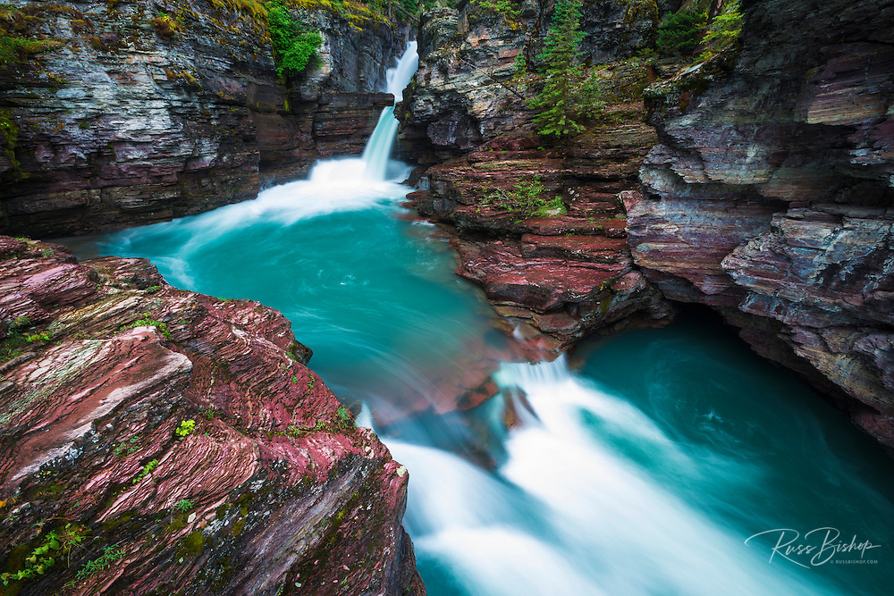 St. Mary Falls, Glacier National Park, Montana USA