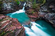 St. Mary Falls, Glacier National Park, Montana USA