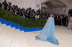 Jennifer Lopez arriving at The Metropolitan Museum of Art Costume Institute Benefit celebrating the opening of Rei Kawakubo / Comme des Garcons : Art of the In-Between held at The Metropolitan Museum of Art  in New York, NY, on May 1, 2017. (Photo by Anthony Behar) *** Please Use Credit from Credit Field ***