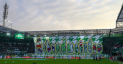 04.02.2018, Allianz Stadion, Wien, AUT, 1. FBL, SK Rapid Wien vs FK Austria Wien, 21. Runde, im Bild Block West mit Transparent // during the Austrian Football Bundesliga 21st Round match between SK Rapid Wien and FK Austria Wien at the Allianz Stadion in Wien, Austria on 2018/02/04. EXPA Pictures © 2018, PhotoCredit: EXPA/ Thomas Haumer