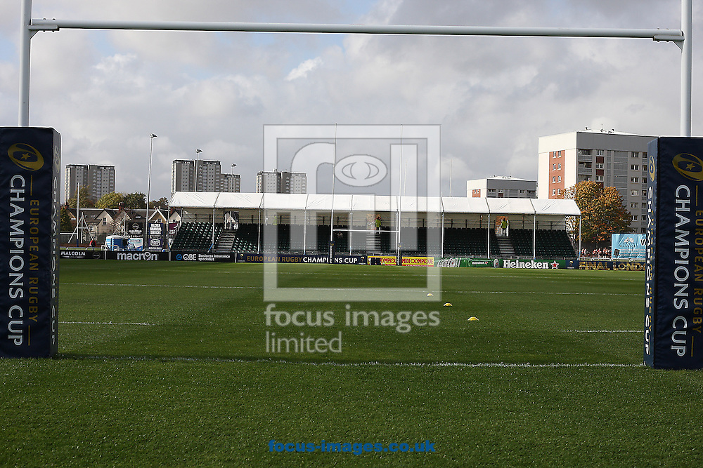 Scotstoun Stadium before the European Rugby Champions Cup match at Scotstoun Stadium, Glasgow<br /> Picture by Ian Buchan/Focus Images Ltd +44 7895 982640<br /> 18/10/2014