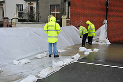 © Licensed to London News Pictures. 03/01/2014; Bristol, UK.  Flooding from a high tide in the Cumberland Basin area of Bristol docks.  Water flowed from Cumberland Basin onto the dockside by the Pumphouse Pub.  Flood barriers were used for the first time in Bristol to protect properties in nearby Avon Crescent as the River Avon overflowed onto Cumberland Road. 17 December 2013.<br /> Photo credit : Simon Chapman/LNP