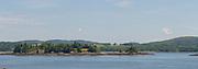 Panoramic image of St. Croix Island International Historic Site, near
