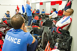 Behind the scenes with the French Wheelchair Rugby Team at the 2015 BT World Wheelchair Rugby Challenge, Copperbox, Olympic Park, London