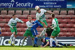 WREXHAM, WALES - Monday, May 2, 2016: The New Saints' Connell Rawlinson in action against Airbus UK Broughton during the 129th Welsh Cup Final at the Racecourse Ground. (Pic by David Rawcliffe/Propaganda)