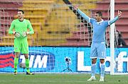 Udine, 15 febbraio 2015<br /> Serie A 2014/15. 23^ giornata.<br /> Stadio Friuli.<br /> Udinese vs Lazio<br /> Nella foto: la rabbia del difensore della Lazio Mauricio.<br /> © foto di Simone Ferraro