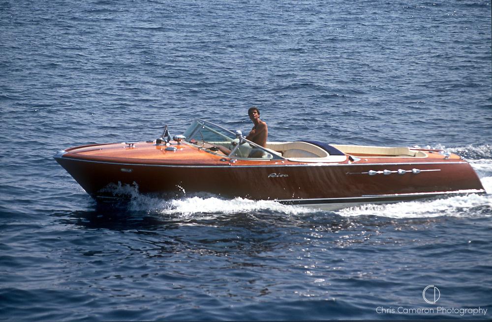 Riva Aquarama Special, classic speed boat.  (© 1996 Chris Cameron)