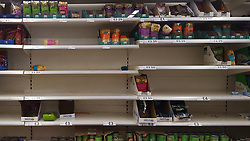 © Licensed to London News Pictures. 08/03/2020. London, UK. Tesco store in London runs low of Asian food amid an increased number of cases of Coronavirus (COVID-19) in the UK. Major supermarkets including Tesco, have started to ration certain products after shoppers began to stockpile. 273 cases in the UK have tested positive of the virus. Photo credit: Dinendra Haria/LNP