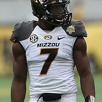 ORLANDO, FL - JANUARY 01: Kenya Dennis #7 of the Missouri Tigers is seen during the Buffalo Wild Wings Citrus Bowl between the Minnesota Golden Gophers and the Missouri Tigers at the Florida Citrus Bowl on January 1, 2015 in Orlando, Florida. (Photo by Alex Menendez/Getty Images) *** Local Caption *** Kenya Dennis
