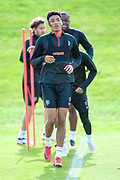 Sean Clare of Heart of Midlothian at training, ahead of the visit of Livingston, at Oriam Sports Performance Centre, Riccarton, Edinburgh, Scotland on 20 September 2018.