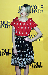 © Licensed to London News Pictures. 07/04/14 Peaches Geldof found dead at her home in Wrotham in Kent aged 25. FILE PICTURE DATED  09/01/2014, UK. Peaches Geldof, The Wolf of Wall Street - UK film premiere, Odeon Leicester Square, London UK, 09 January 2014. Photo credit : Richard Goldschmidt/Piqtured/LNP