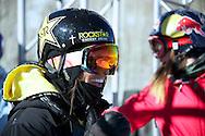 Ashley Battersby during Women's Ski Slopestyle Practice at the 2013 X Games Aspen at Buttermilk Mountain in Aspen, CO.  Brett Wilhelm/ESPN