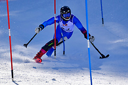 ORVARSSON Hilmar, LW2, ISL, Slalom at the WPAS_2019 Alpine Skiing World Cup Finals, Morzine, France
