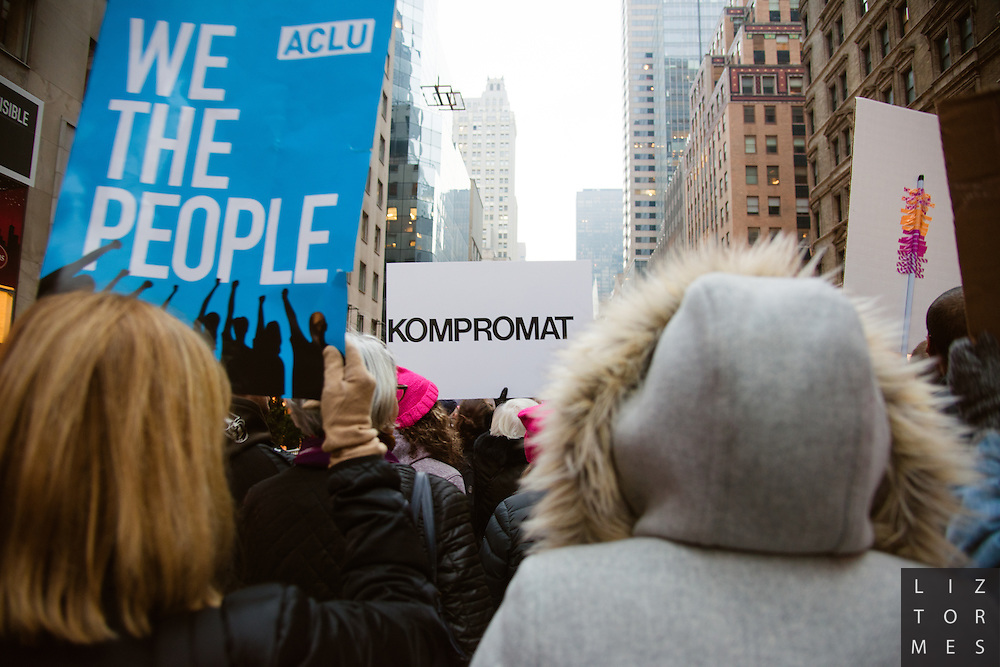 Women's March, New York City, January 21, 2017
