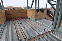 Pedestrian Bridge Floor Materials. Construction Progress Railroad Station Fairfield Metro Center - Site visit 19