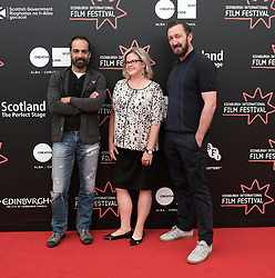 Edinburgh International Film Festival, Thursday 22nd June 2017<br /> <br /> Juror's photocall<br /> <br /> Simon El Habre, Wendy Mitchell and Ralph Ineson<br /> <br /> (c) Alex Todd | Edinburgh Elite media