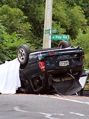 Auckland-Fatal crash after car rolls, McEntee Road, Waitakere