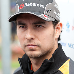 Sergio Perez of Sahara Force India F1 Team.<br /> Round 1 - opening day of the 2015 Formula 1 Rolex Australian Grand Prix at The circuit of Albert Park, Melbourne, Victoria on the 12th March 2015.<br /> Wayne Neal | SportPix.org.uk