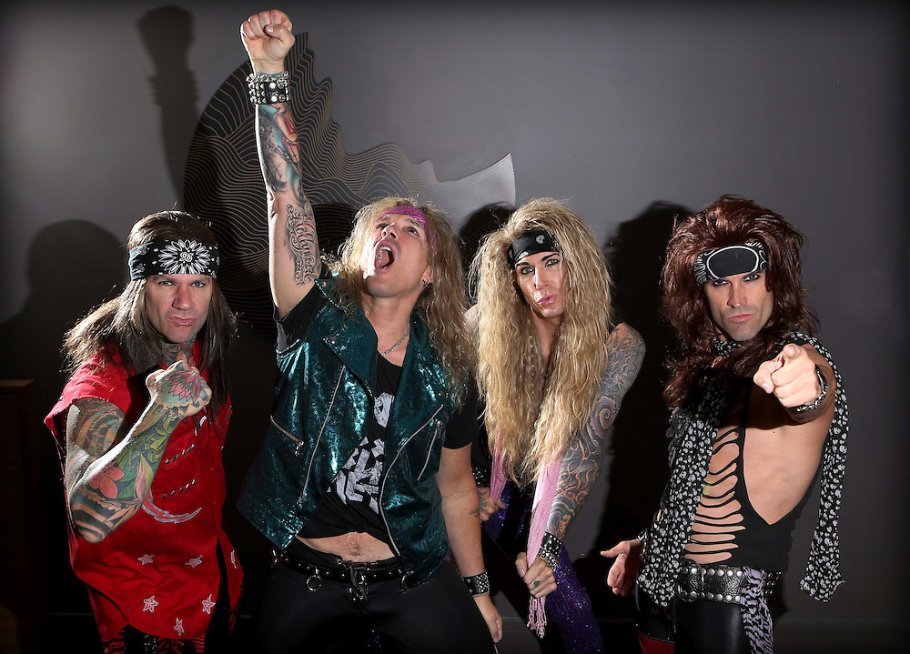Steel Panther is an American heavy metal band from Los Angeles, California mostly known for their profane and humorous lyrics as well as their exaggerated on-stage personae that reimagine and parody the heavy metal music and lifestyle of the 1980s.