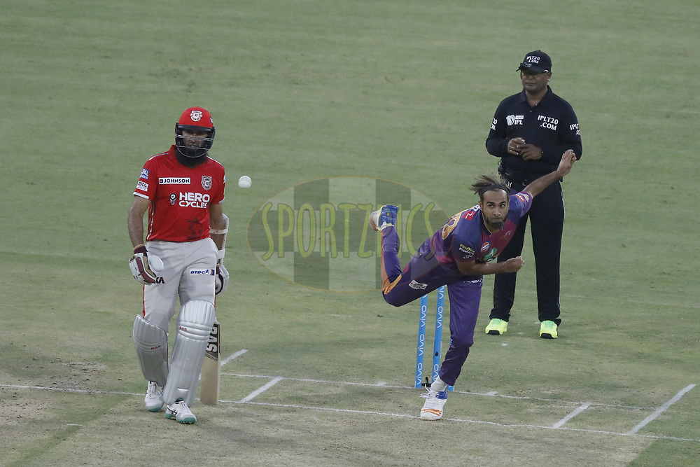 during match 4 of the Vivo 2017 Indian Premier League between the Kings X1 Punjab and the rising Pune Supergiant held at the Holkar Cricket Stadium in Indore, India on the 8th April 2017<br /> <br /> Photo by Arjun Singh - IPL - Sportzpics