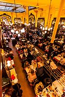 Bouillon Chartier restaurant, Paris, France. It was classified as a historic monument in 1989.