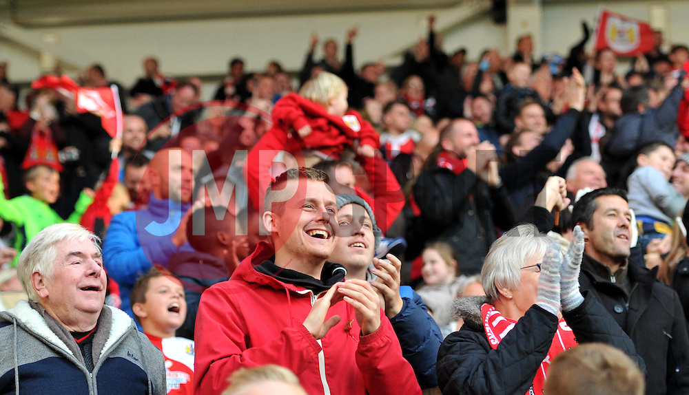 Supporters celebrate Bristol City going 1-0 up against Blackburn Rovers - Mandatory by-line: Paul Knight/JMP - 22/10/2016 - FOOTBALL - Ashton Gate Stadium - Bristol, England - Bristol City v Blackburn Rovers - Sky Bet Championship