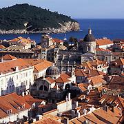 View of Dubrovnik and Lokrum Island in Croatia