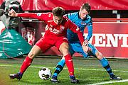 ENSCHEDE - 17-12-2016, FC Twente - AZ, Grolsch Velst Stadion, FC Twente speler Joachim Andersen, AZ speler Thomas Ouwejan