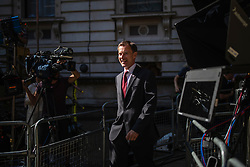 © Licensed to London News Pictures. 23/07/2019. London, UK. Foreign Secretary Jeremy Hunt arrives on Downing Street for the final Cabinet meeting under Prime Minister Theresa May. The result of the Conservative Party leadership contest will be announced this morning. Photo credit: Rob Pinney/LNP