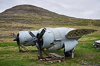 The Egill Ólafsson Aviation Museum at Hnjótur in Örlygshöfn, West fiords of Iceland. Engines from Douglas C-117D.