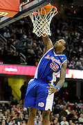 Jan 31, 2010; Cleveland, OH, USA; Los Angeles Clippers guard Rasual Butler (45) dunks during the third quarter against Cleveland Cavaliers at Quicken Loans Arena. The Cavaliers beat the Clippers 114-89. Mandatory Credit: Jason Miller-US PRESSWIRE