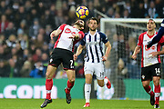 Southampton striker Shane Long (7) heads acrobatically during the Premier League match between West Bromwich Albion and Southampton at The Hawthorns, West Bromwich, England on 3 February 2018. Picture by Dennis Goodwin.