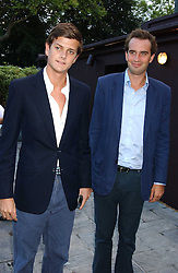 Left to right, the HON.ALEXANDER SPENCER-CHURCHILL and FRITZ VON WESTENHOLTZ at the opening party of the new Frankie's Italian Bar and Grill hosted by Frankie Dettori, Marco Pierre White and Edward Taylor at 68 Chiswick High Road, London W4 on 1st September 2005.<br />