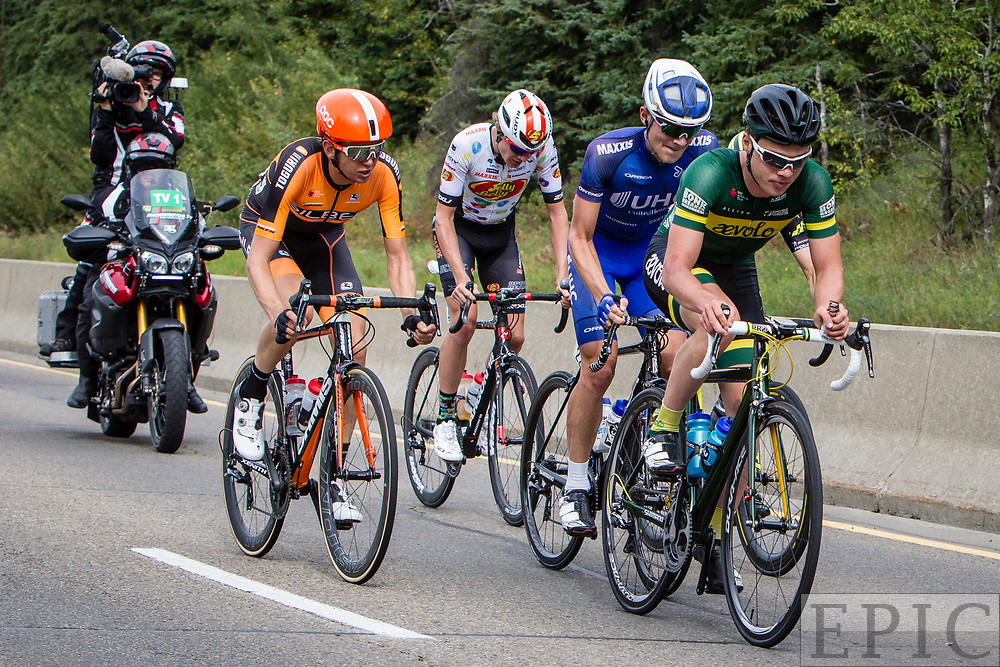 EDMONTON, ALBERTA, CAN - September 3: The breakaway group during stage 3 of the Tour of Alberta on September 3, 2017 in Edmonton, Canada. (Photo by Jonathan Devich)