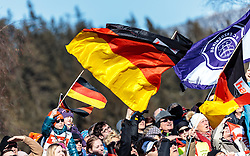 29.01.2017, Casino Arena, Seefeld, AUT, FIS Weltcup Nordische Kombination, Seefeld Triple, Skisprung, im Bild Deutsche Zuschauer mit der Bundesfahne // German Spectators with Flags during Competition Jump of Skijumping of the FIS Nordic Combined World Cup Seefeld Triple at the Casino Arena in Seefeld, Austria on 2017/01/29. EXPA Pictures © 2017, PhotoCredit: EXPA/ JFK