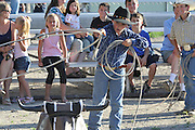 Children, Cowboy, Cowgirl, Boy, Girl, Calf Roping,  Competition, Roping, Rodeo, Salmon, Idaho