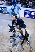 Martin Fuchs and Clooney 51 second in the world cup final<br /> FEI World Cup Final Gothenburg 2019<br /> © DigiShots