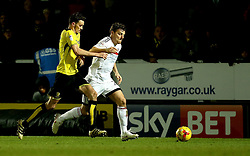 Chris Martin of Fulham goes past Tom Flanagan of Burton Albion in front of a Sky Bet advertising board - Mandatory by-line: Robbie Stephenson/JMP - 01/02/2017 - FOOTBALL - Pirelli Stadium - Burton Upon Trent, England - Burton Albion v Fulham - Sky Bet Championship