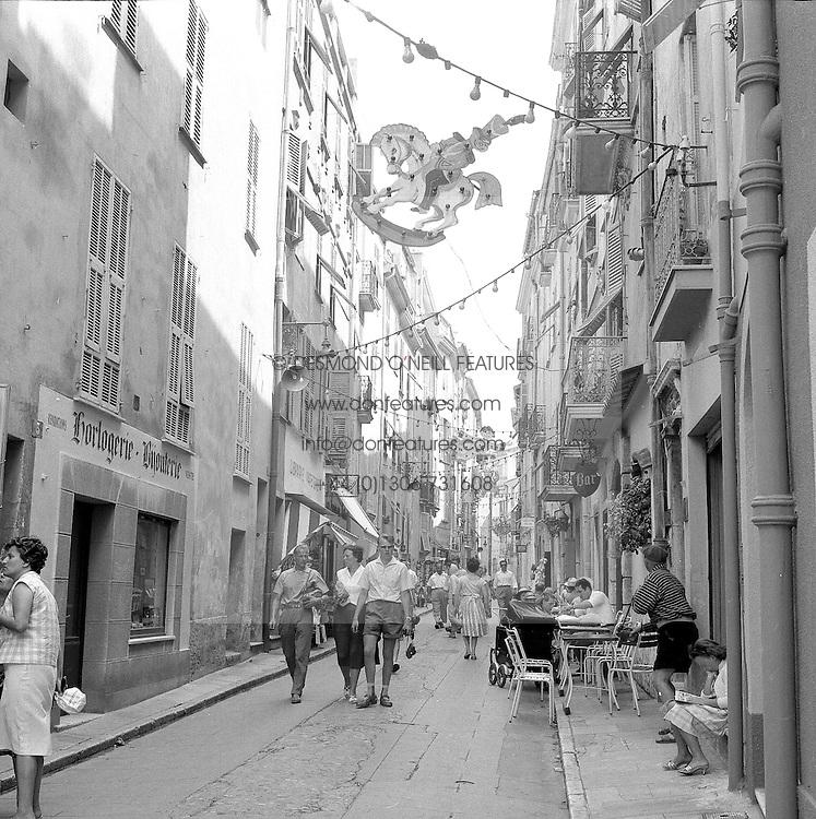 The Old Town, Monte Carlo, Monaco in February 1960.