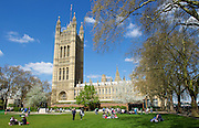 Weather pictures from Westminster, London, Great Britain <br /> 19th April 2016 <br /> <br /> Victoria Tower Gardens Milbank London  <br /> <br /> <br /> Photograph by Elliott Franks <br /> Image licensed to Elliott Franks Photography Services