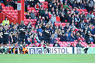 Charlton's Danny Haynes © celebrates after he scores the opening goal .  NPower championship, Bristol city v Charlton Athletic at Ashton Gate stadium in Bristol on Sunday 11th November 2012.  pic by Andrew Orchard, Andrew Orchard sports photography,